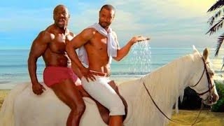Repeat youtube video Windsurfing Isaiah Mustafa vs Terry Crews - Old Spice commercial
