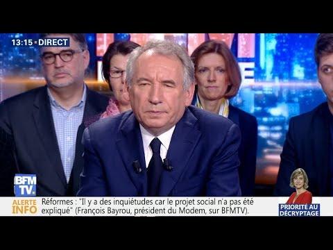 François bayrou Invitée de BFM politique le Dimanche 8 Avril 2018