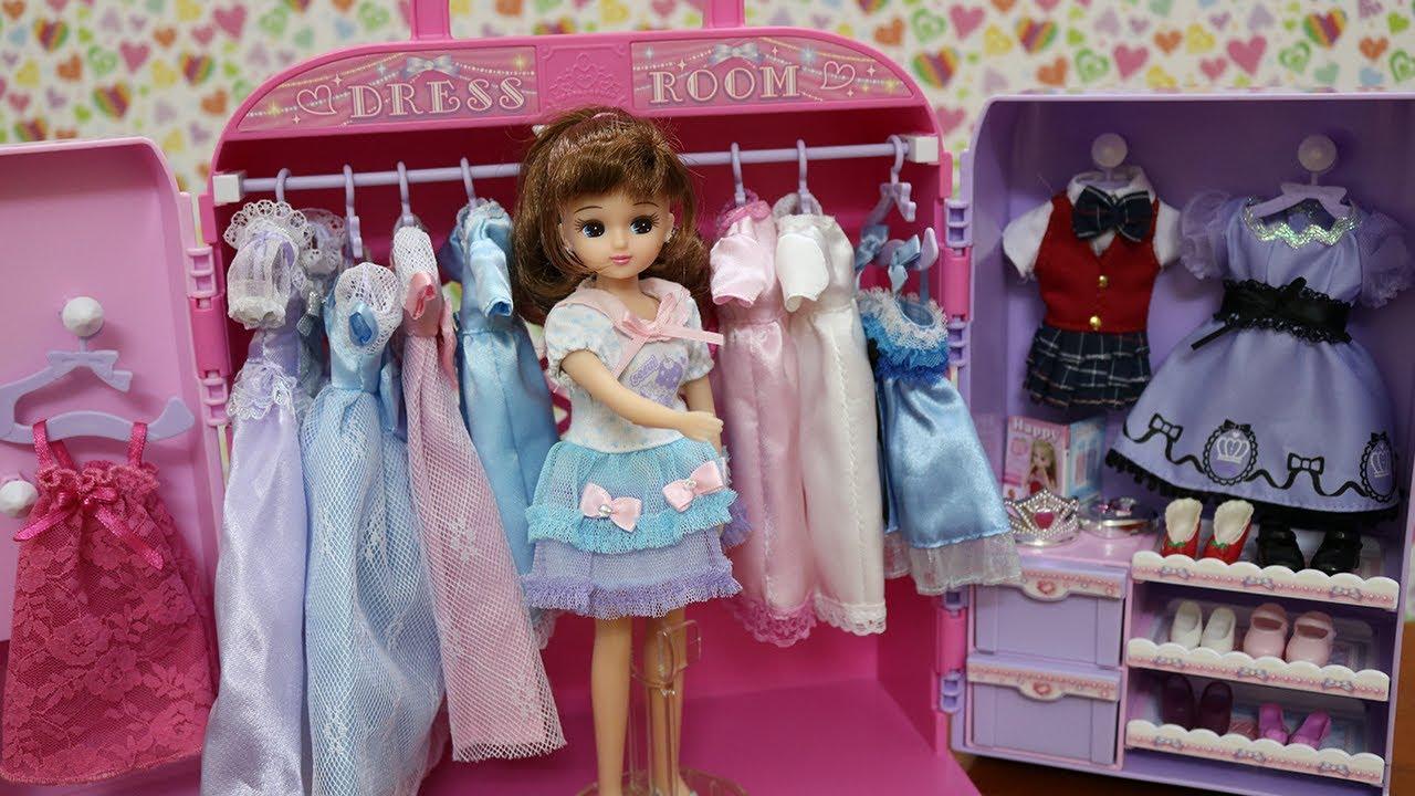 ĐỒ CHƠI NHẬT BẢN – Tủ Quần Áo Mới Của Búp Bê Licca Chan – phụ kiện quần áo, giày cho búp bê