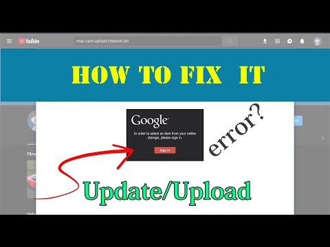 How To Fix Can't Update/upload Channel Art/banner 2019