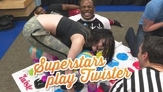 Things get weird when WWE Superstars play Twister: WWE Game Night