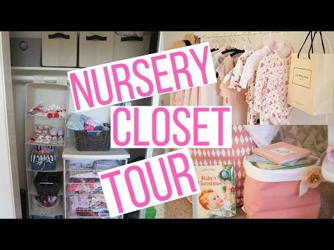NURSERY CLOSET STORAGE & ORGANIZATION TOUR ! | Hayley Paige