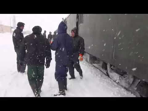 Iranian Railways in Winter 2018