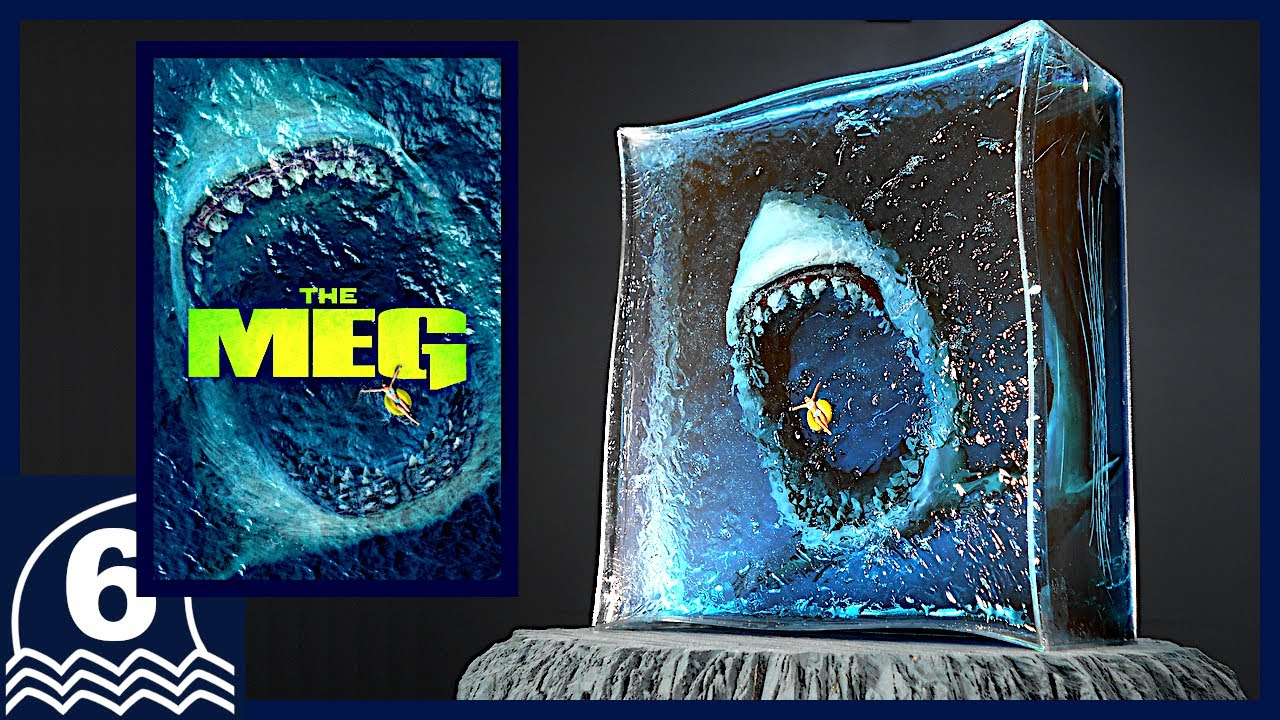 DIY. Make THE MEG diorama / resin art. Build the greatest movie cover art【Megalodon/Horror art】