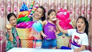 Chị Trang oz Bán kem và Cô Bé Nhà Nghèo Tốt Bụng Nhặt Rác - Kieu ANh Vlog