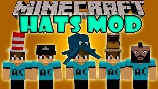 HATS MOD - Sombreros decorativos!!! - Minecraft mod 1.6.4, 1.7.2 y 1.7.10 Review ESPAÑOL