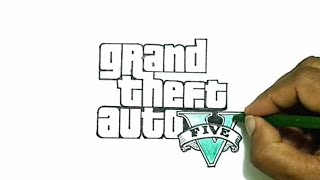 How to Draw the Grand Theft Auto V (GTA 5) Logo