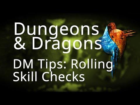 DM Tips Rolling Skill Checks