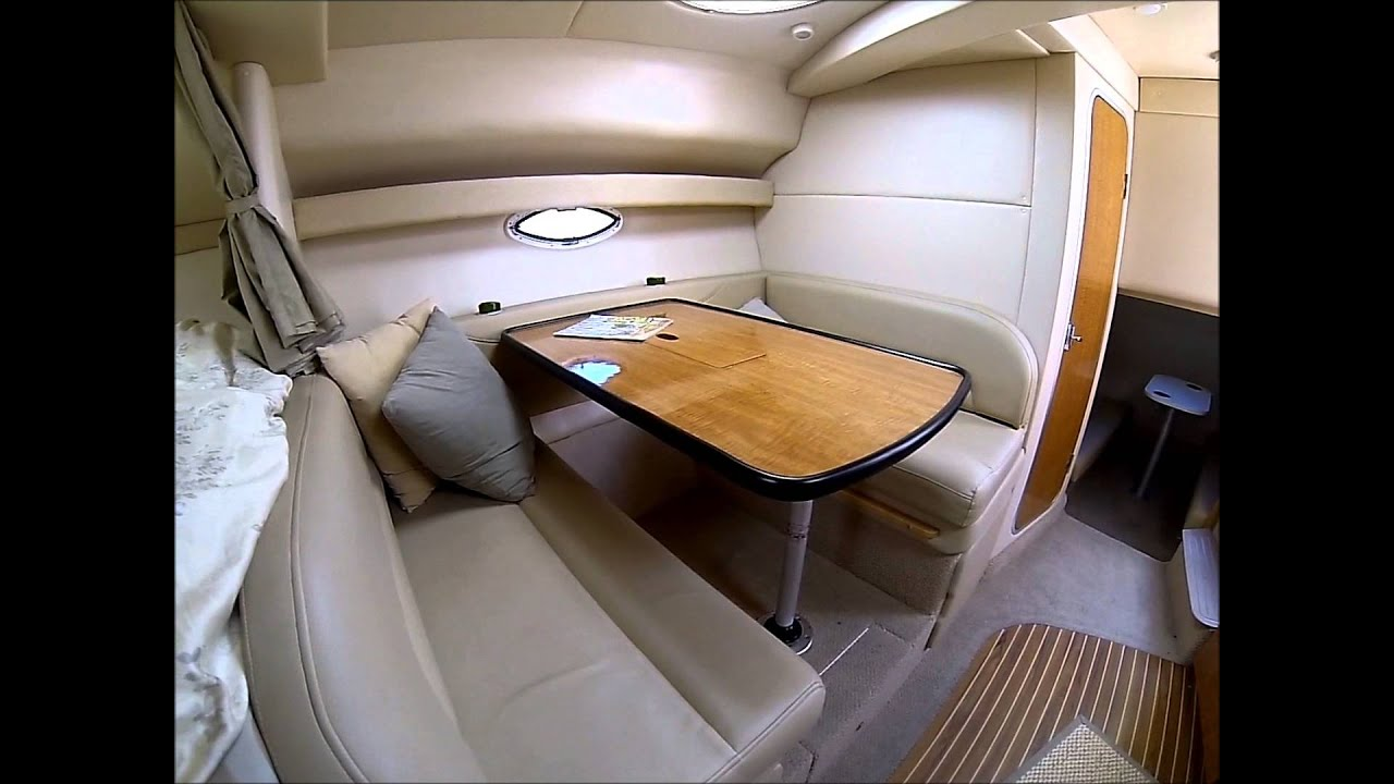 maxum 3300scr express cruiser cabin interior by south mountain yachts youtube