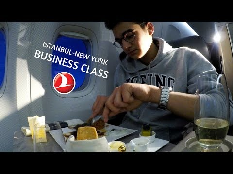 Turkish Airlines B777 BUSINESS CLASS Flight To New York
