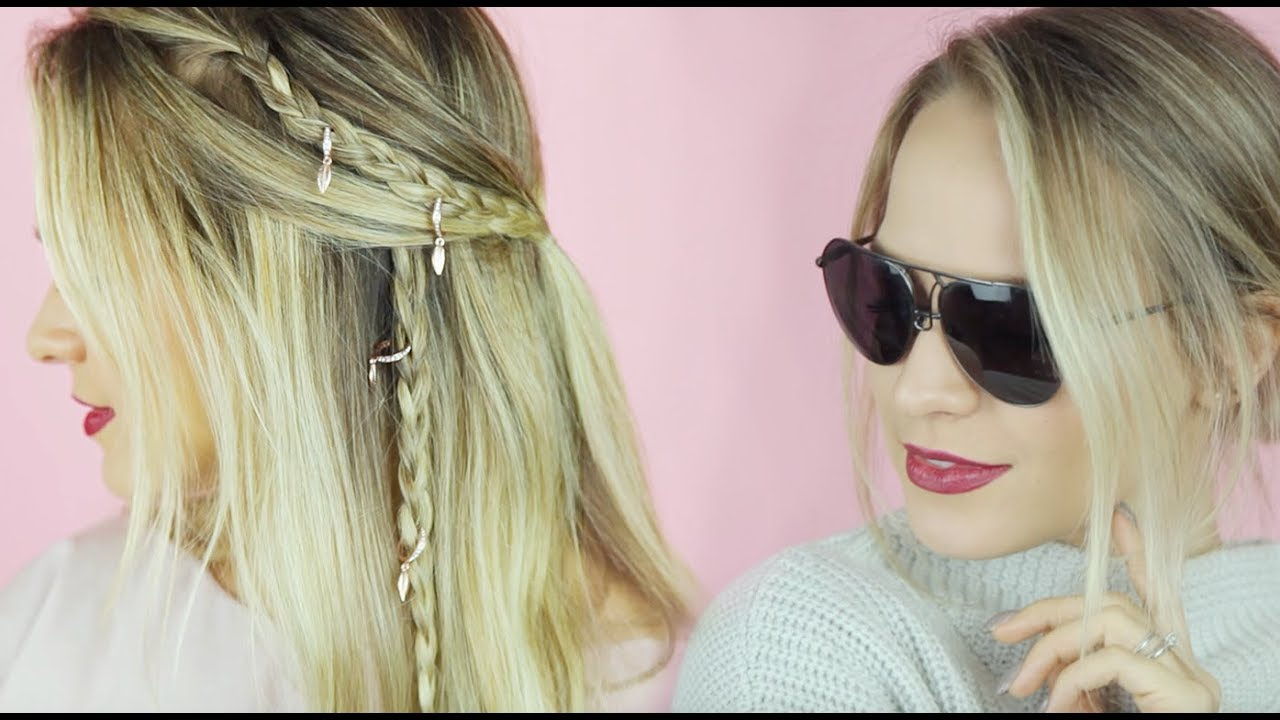 Hairstyles for Fine Hair (long & short!) - KayleyMelissa - YouTube