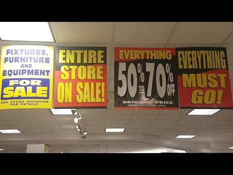 (Store Empty) Sears Going Out Of Business