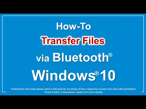 How to Transfer Files via Bluetooth in Windows 10  YouTube