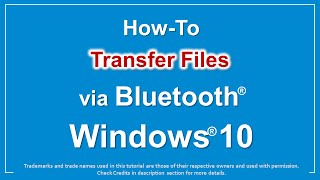 How to Transfer Files via Bluetooth in Windows 10