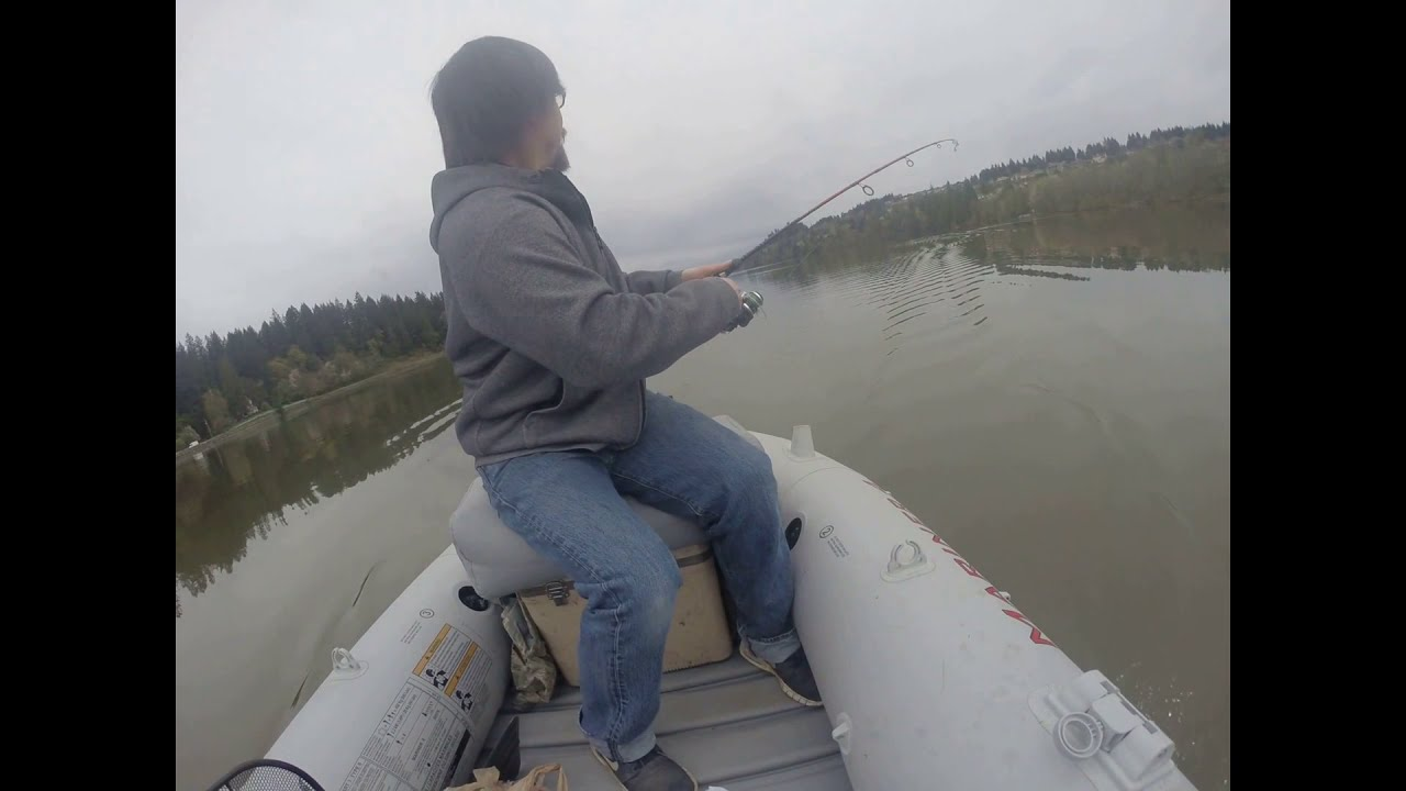 FISH ON: More Trout On Bass Gear At Lacamas Lake - YouTube