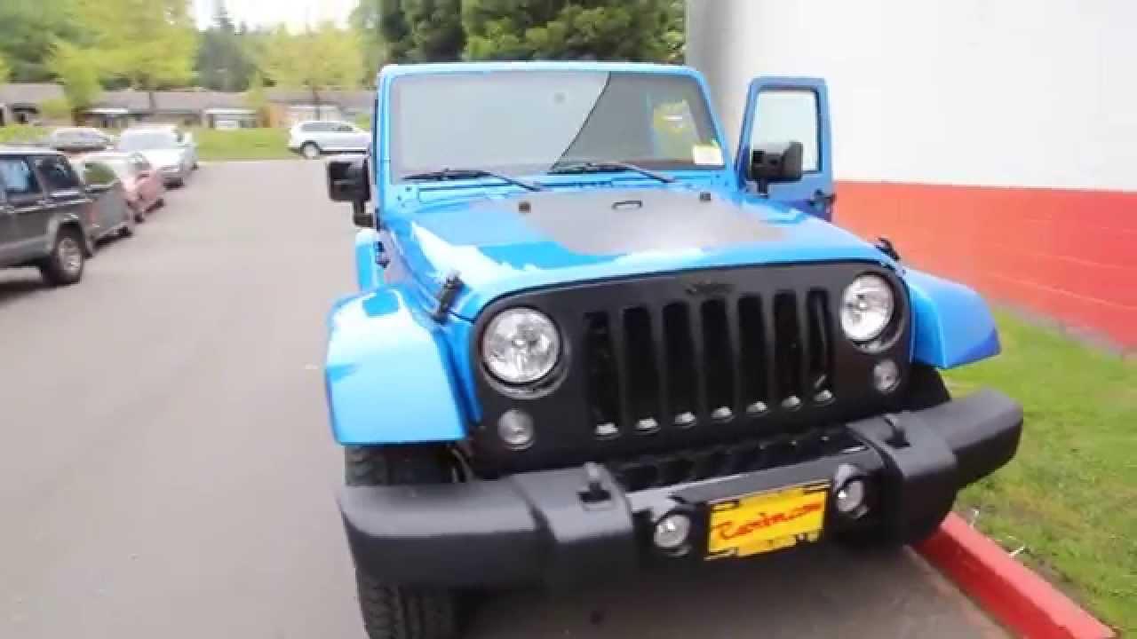 2014 Jeep Wrangler Sahara  Blue Pearl  Altitude Edition