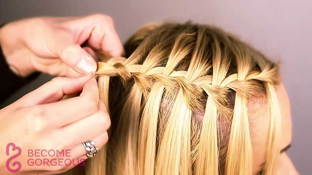 Waterfall Braid Tutorial Become Gorgeous Youtube