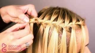 Repeat youtube video Waterfall Braid Tutorial - Become Gorgeous