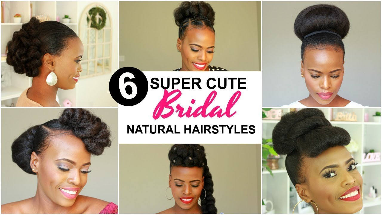 2020 Bridal Natural Hairstyles For Black Women Youtube