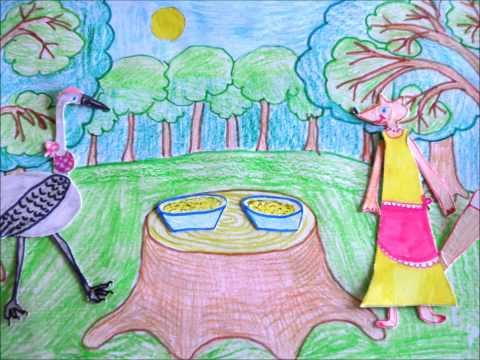 Лиса и Журавль (анимационный фильм), Макарова Елизавета, 9 лет, Кушва