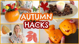 11 GENIUS AUTUMN / FALL LIFE HACKS & DIY's 🍁🍂