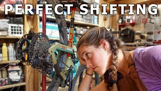 How to adjust y๐ur derailleur for perfect shifting (indexing your derailleur)   Syd Fixes Bikes