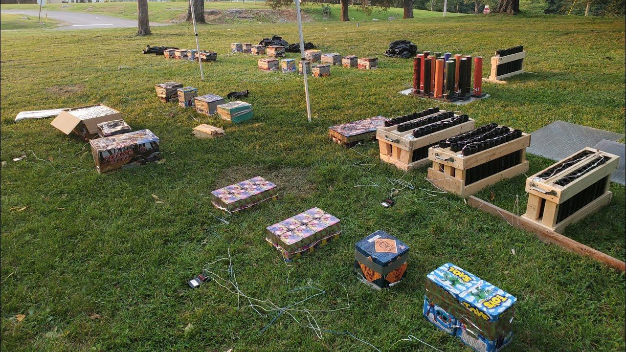 Backyard Birthday Fireworks Display