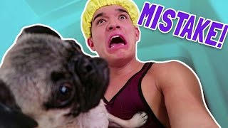 MY FIRST PUPPY BATH! (BIG MISTAKE!)