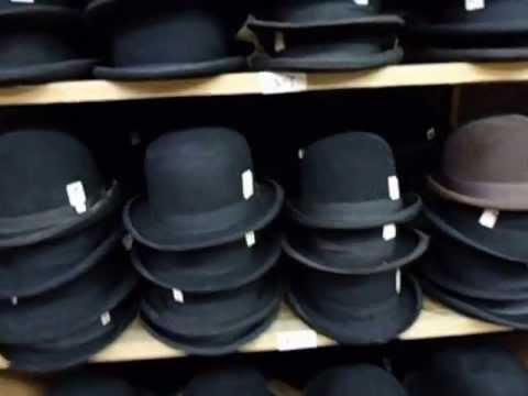 Derby and Bowler Hats 1800 s - Western Room - YouTube 309e39755f0