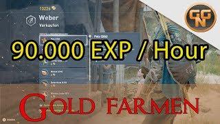 Assassins Creed Origins Farming Guide - 90.000 EXP / Stunde + Apollonia Gold Farming