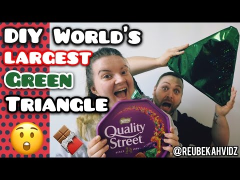 DIY World's largest green triangle chocolate (Christmas video)