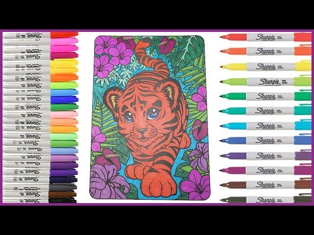 - Coloring Book Lisa Frank - Tiger - Lets Color! - YouTube
