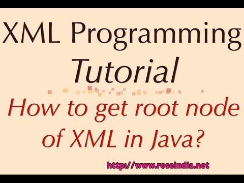 How to get root node of XML in Java?