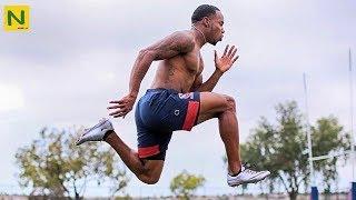 マネすれば足が速くなる?!世界最速ラグビー選手の科学的トレーニング【筋トレ】 | Carlin Isles Faster training thumbnail