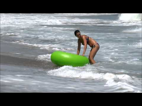 Bulgaria and BIG WAVES on BLACK SEA - Obzor - crazy people