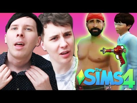 DIL'S MIND CONTROL STRIPPING - Dan and Phil Play: Sims 4 #38