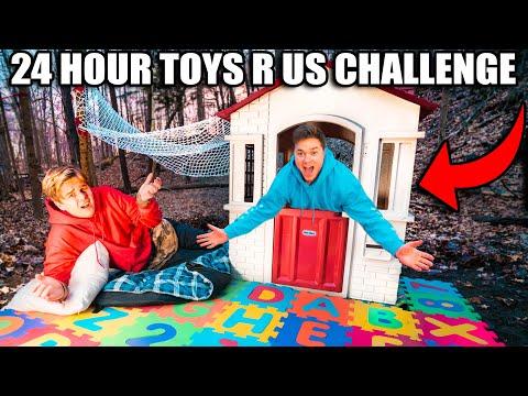 24 HOUR TOYS R US SURVIVAL CHALLENGE!
