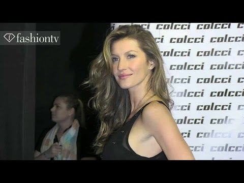 Gisele Bundchen at Colcci Winter 2014 BACKSTAGE | Sao Paulo Fashion Week SPFW | FashionTV