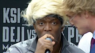 [FULL VIDEO] KSI VS. LOGAN PAUL PRESS CONFERENCE! **insanity** thumbnail