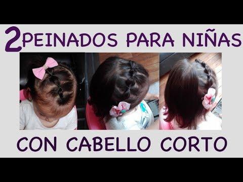 2 Peinados Para Ninas Con Cabello Corto Facil Y Rapido Chicas