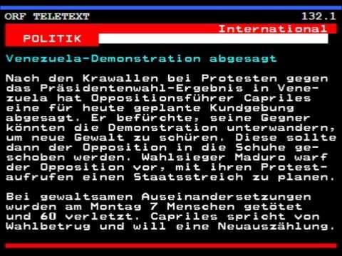 Teletext ORF Videotext Österreichischer Rundfunk TV FS1