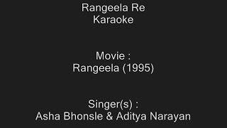 Rangeela Re - Karaoke - Rangeela (1995) - Asha Bhonsle & Aditya Narayan