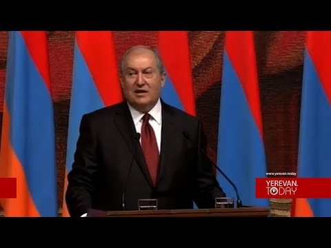 Dr. Armen Sarkissian Sworn in as President of Armenia