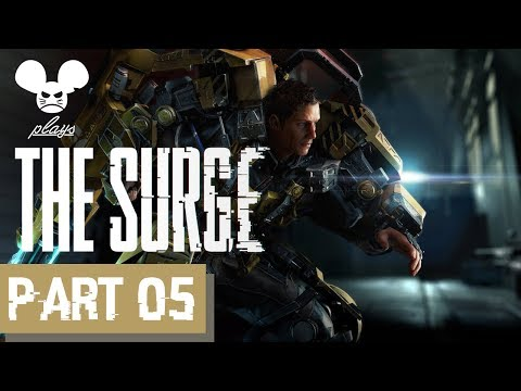 PS4 The Surge - Staff Weapon Gameplay Part 05 - Central Production B