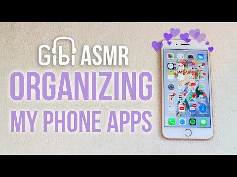 [Satisfying ASMR] Organizing My Phone Apps | What's On My IPhone 8+
