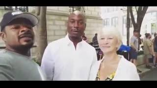 Tyrese Gibson & F Gary Gray Welcome Helen Mirren To Fast 8 Set