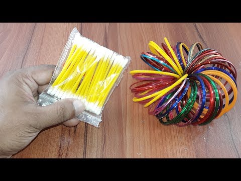Unbelievably craft idea with Cotton buds & Old bangles | DIY arts and crafts | Amazing creative idea