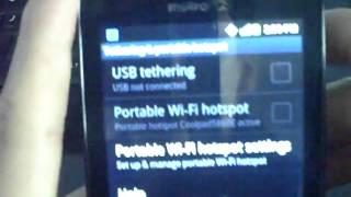 Wifi Hotspot on the Coolpad Quattro