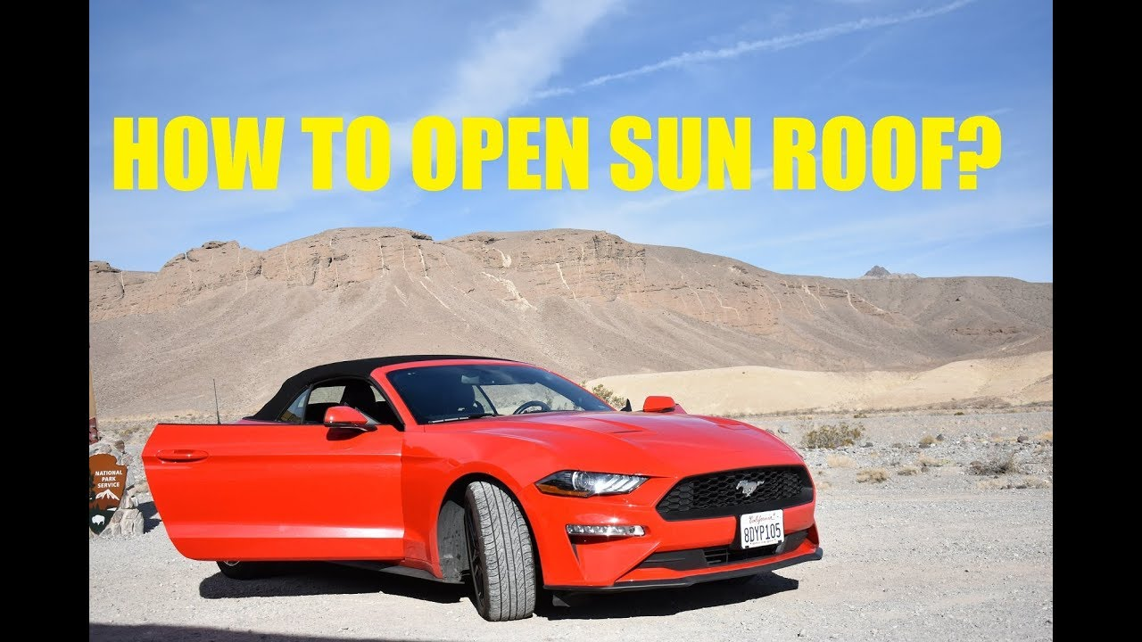 How to open sun roof in ford mustang convertible ford mustang features las vegas
