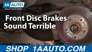 Really Bad Worn out Front Disc Brakes Sound Terrible - Dangerous